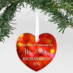 Swish Personalized Aluminum Heart Ornament Personalized Aluminum Heart Ornament Stamp Out Our As Mr Mrs Our Toger Quotes