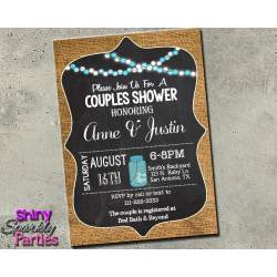 Small Crop Of Couples Shower Invitations