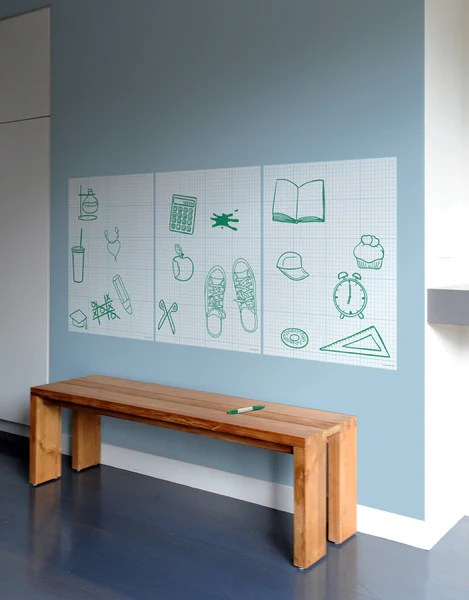Dry Erase Graph Board | Whiteboard Decal | Blik