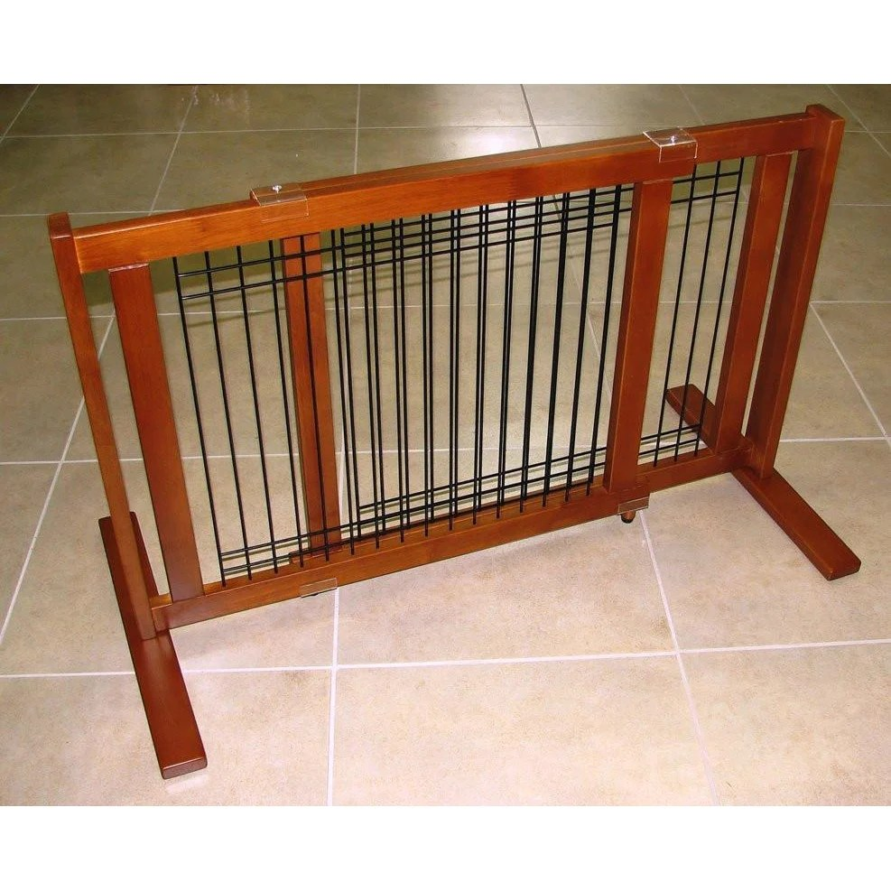 Sunshiny Pet Freestanding Woodwire Pet Gate Barriers Crown Pet Products 21 Small Span 1200x1200 Wooden Baby Gates Amazon Wooden Baby Gates Target houzz 01 Wooden Baby Gates