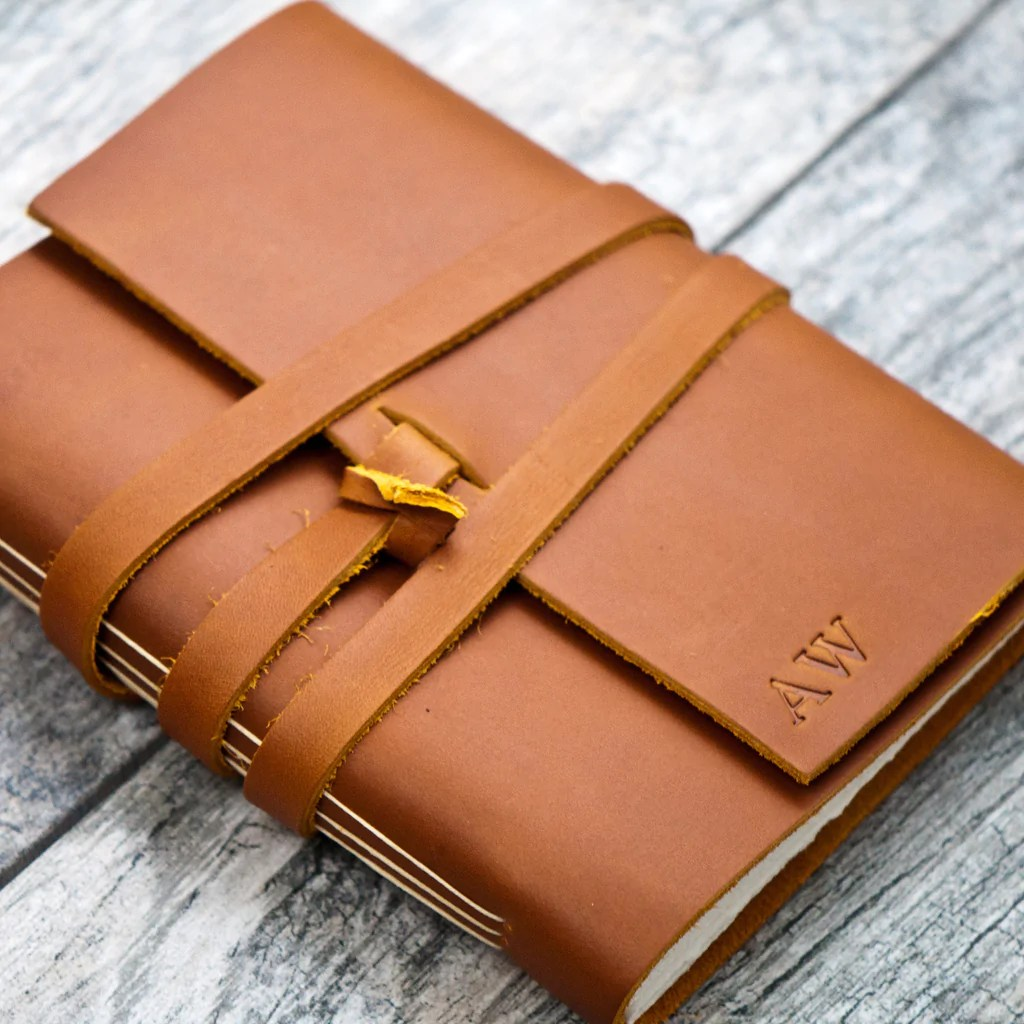 Especial Saddle Tan Personalized Lear Journal Wrap Closure A Personalized Lear Journals Canada Personalized Lear Journal Australia Initials Name Date Saddle Tan Personalized Lear Journal inspiration Personalized Leather Journal