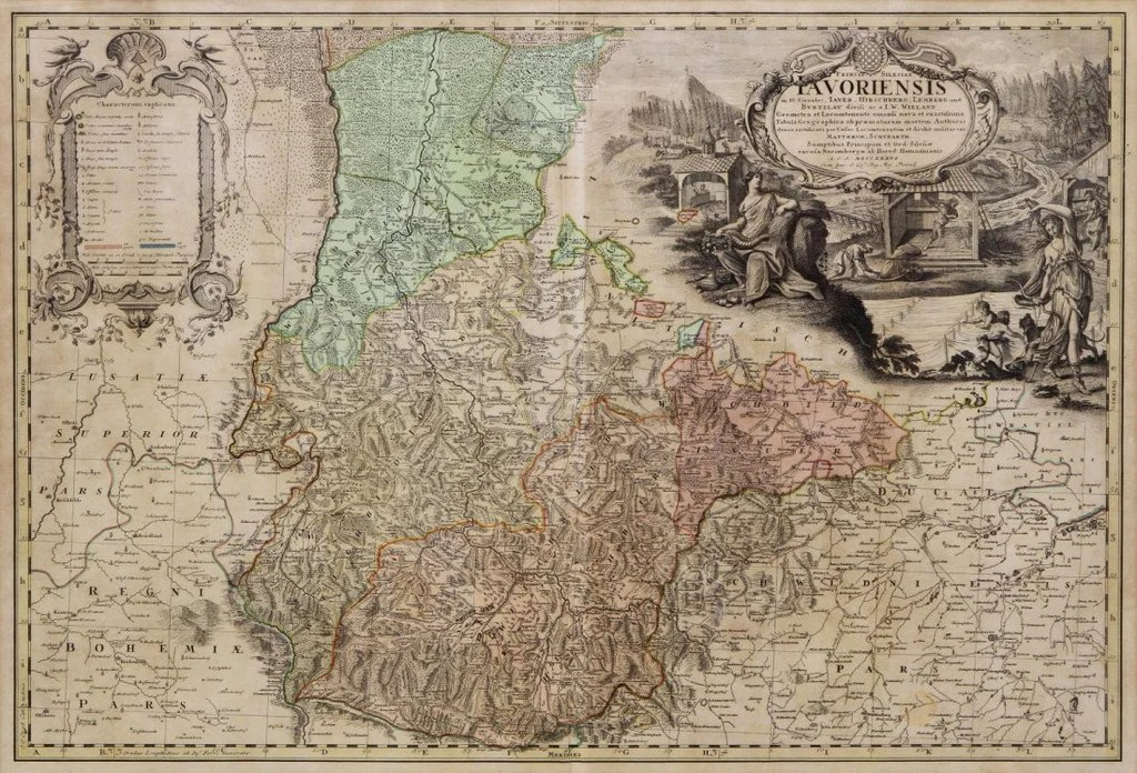 Early Map of Germany  Selisia  18th Century   1700s       Old Europe     Early Map of Germany  Selisia  18th Century   1700s