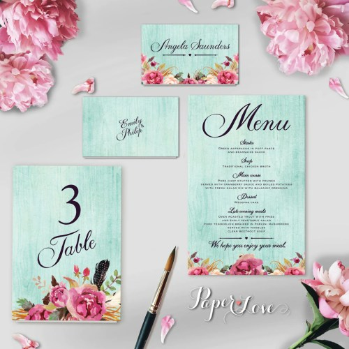 Sparkling Rustic Flowers Mint Background Wedding Day Invitationwith Ribbon Rustic Flowers Mint Background Wedding Day Invitation Wedding Invitation Background Templates Wedding Invitation Background B