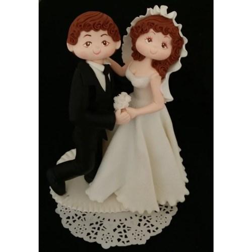 Medium Of Bride And Groom Cake Topper