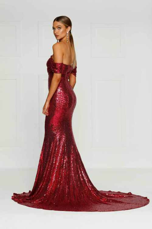 Medium Of Red Sequin Dress