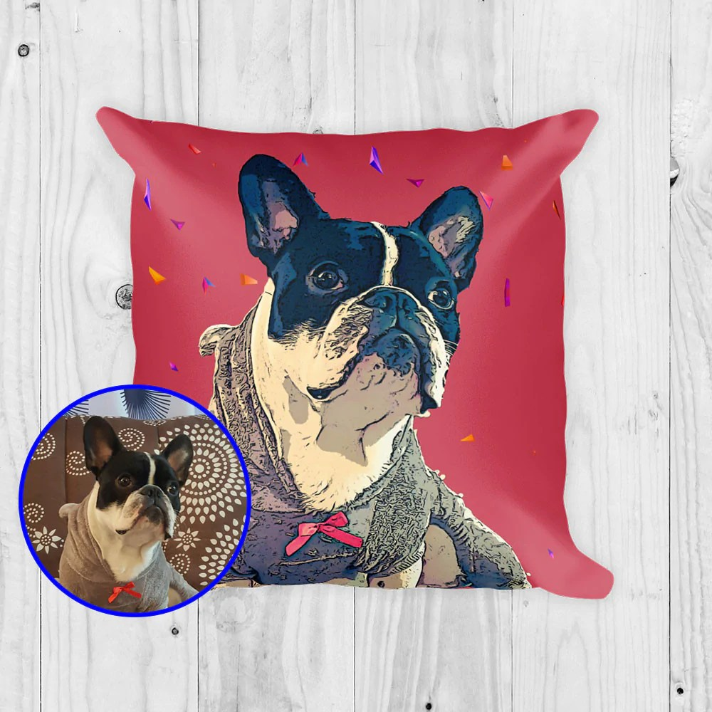 Popular Your Pet Print Your Dog Pop Art Made Your Dog Geometric Custom Pillow Red Background Custom Pop Art Pillow Usa Print Your Pet Shoes Print Your Pet Reviews bark post Print Your Pet