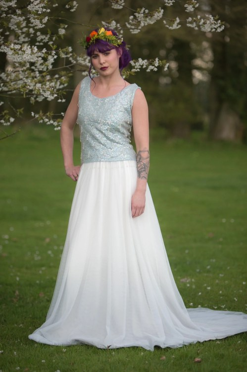 Medium Of Dip Dye Wedding Dress