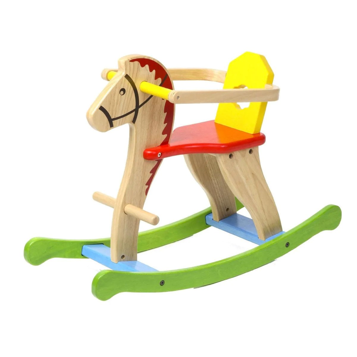 Elegant Removable Guard Colourful Little Classic Wooden Rocking Horse Removable Guard Colourful Little Earthnest Little Earth Nest Classic Wooden Rocking Horse inspiration Wooden Rocking Horse