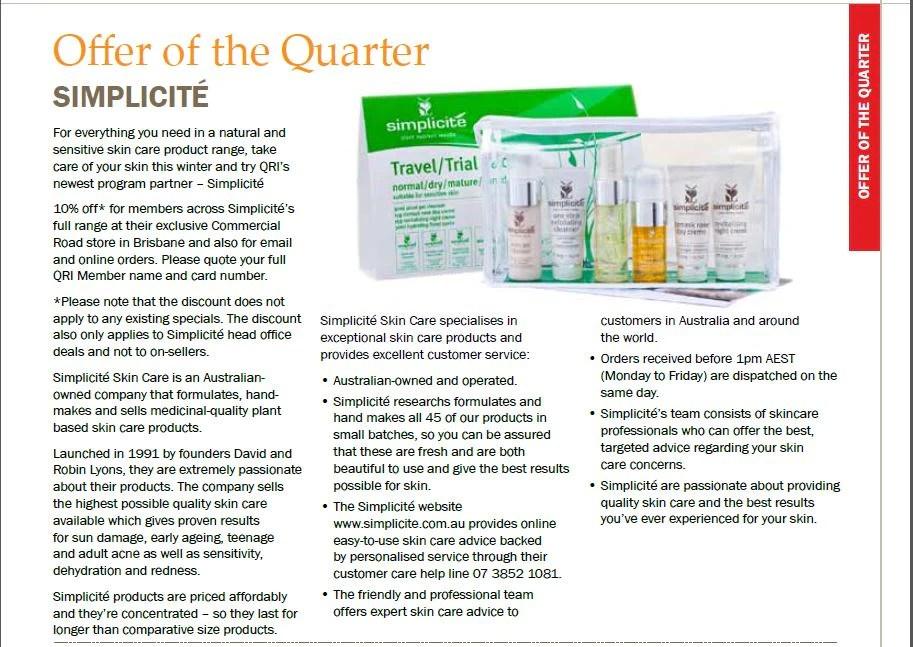 In The Press – Simplicite Skin Care