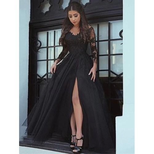 Medium Crop Of Long Sleeve Lace Dress