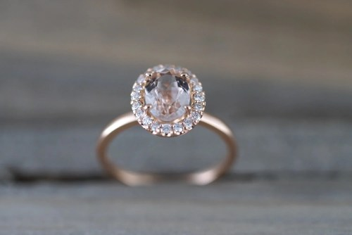 Medium Of Morganite Rose Gold Ring