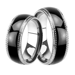 Small Of Black Wedding Rings