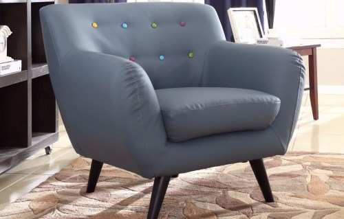 Medium Of Leather Chair Mid Century