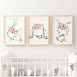 Catchy Woodland Boho Floral Bunny Nursery Or Bedroom Wall Art Decor Print Set Woodland Boho Floral Bunny Nursery Wall Art Print Set Girls Nursery Wall Art Decals Nursery Wall Art Camels