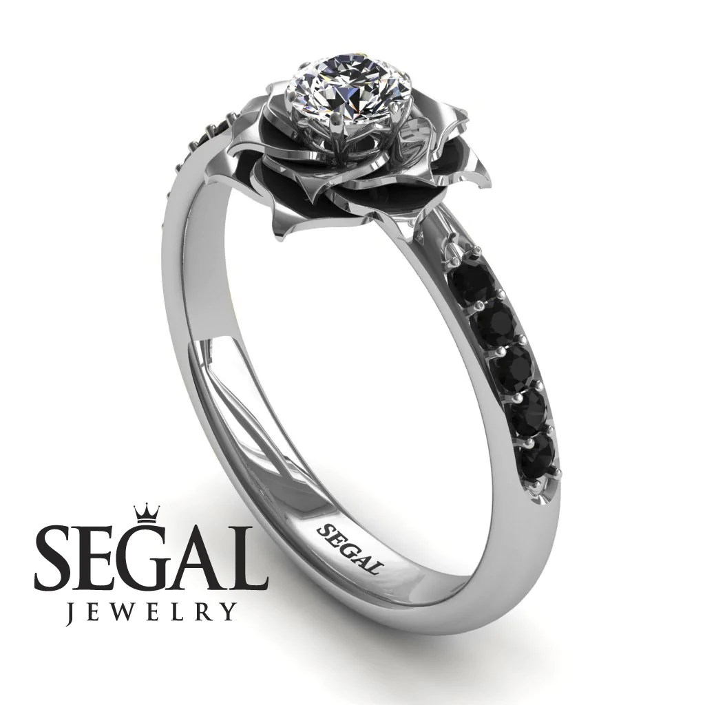 Fullsize Of Black Diamond Engagement Rings