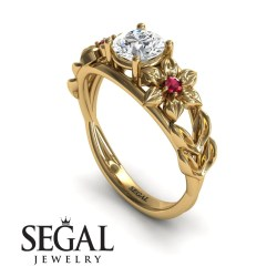 Small Of Nature Inspired Engagement Rings