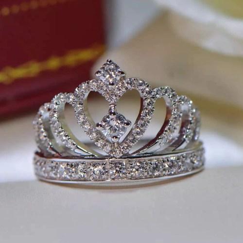 Medium Crop Of Princess Crown Ring