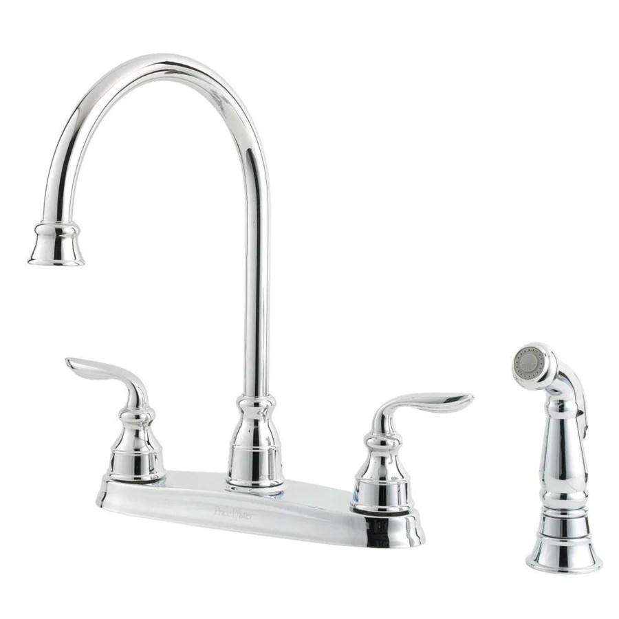 price pfister price pfister kitchen faucet Price Pfister Avalon 2 Handle Kitchen Faucet in Polished Chrome