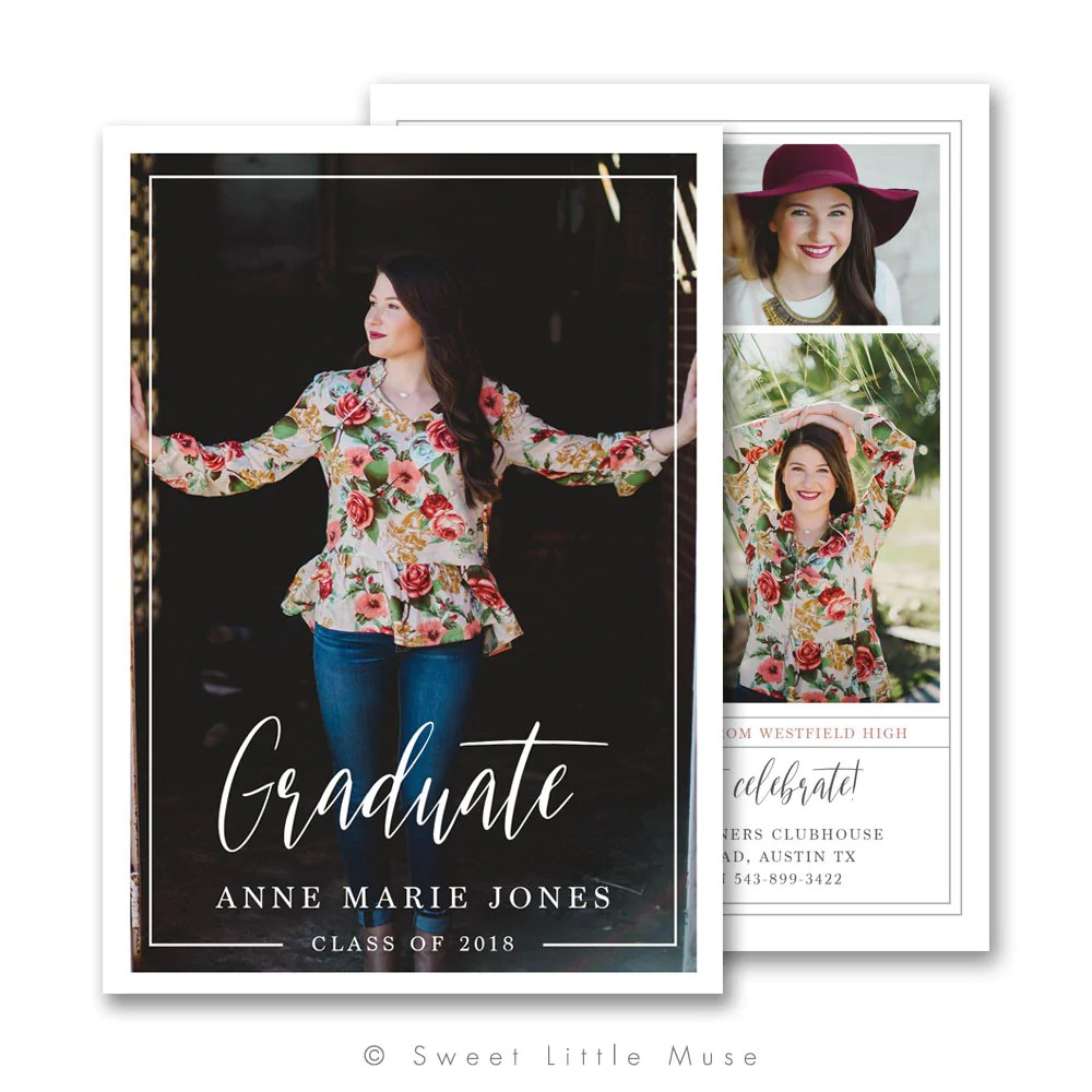 Fullsize Of Graduation Announcement Template