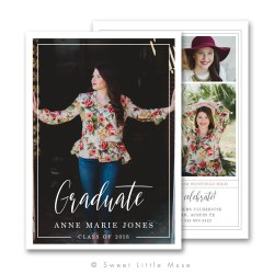 Small Crop Of Graduation Announcement Template