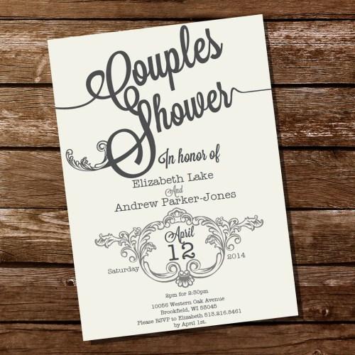 Medium Crop Of Couples Shower Invitations