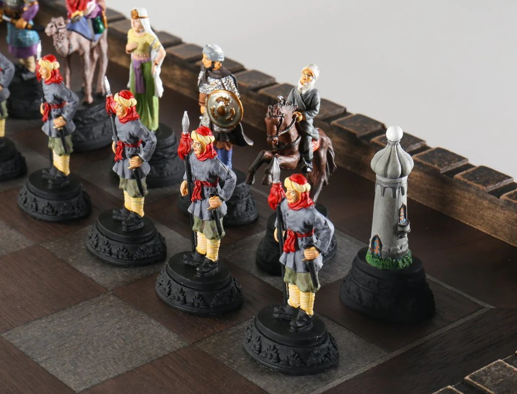 Flossy Medieval Metal Crusades Chess Set Board Chess House Medieval Chess Set Amazon Lego Medieval Chess Set Board Chess Set Medieval Metal Crusades Chess Set houzz-03 Medieval Chess Set
