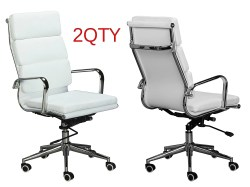 Splendent Vegan Density Stabilizing Bar Swivel Tilting Mechanism Eames Replica Pu Lear Back Cusion Office Chairs Paired Classic Replica Back Office Chair