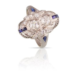 Distinguished Art Deco Diamond Sapphire Two Stone Ring Florence Atique Two Stone Ring Jared Two Stone Ring Mountings Sapphire Two Stone Ring Florence Art Deco Diamond