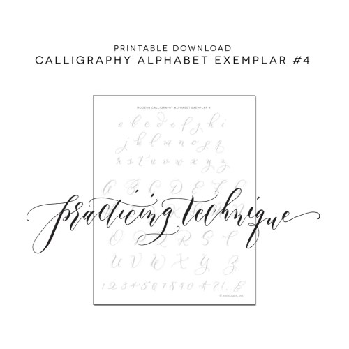 Medium Crop Of Modern Calligraphy Practice Sheets