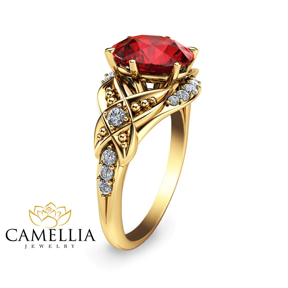 Unusual Ruby Engagement Ring Yellow G Ruby Ring Alternativeengagement Ring Ruby Engagement Ring Yellow G Ruby Ring Alternative Alternative Engagement Rings Canada Alternative Engagement Rings London wedding rings Alternative Engagement Rings