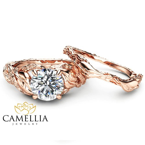 Medium Of Nature Inspired Engagement Rings