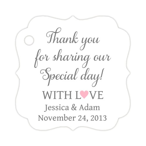 Rummy Sharing Our Day Tags Wedding Tags Daisies Thank You Tags Printable Templates Thank You Tags Pdf Thank You Sharing Our Day Tags G Daisies Thank You