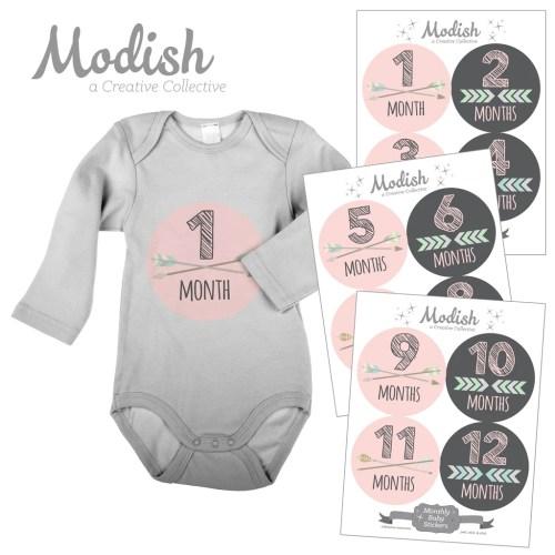 Medium Of Baby Month Stickers