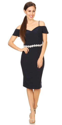 Small Of Navy Blue Cocktail Dress