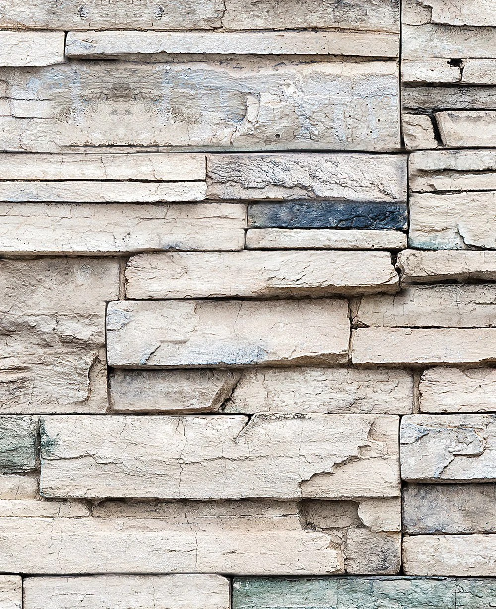 Faux Stone Wallpaper - Peel and Stick – Simple Shapes