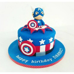 Small Crop Of Captain America Cake