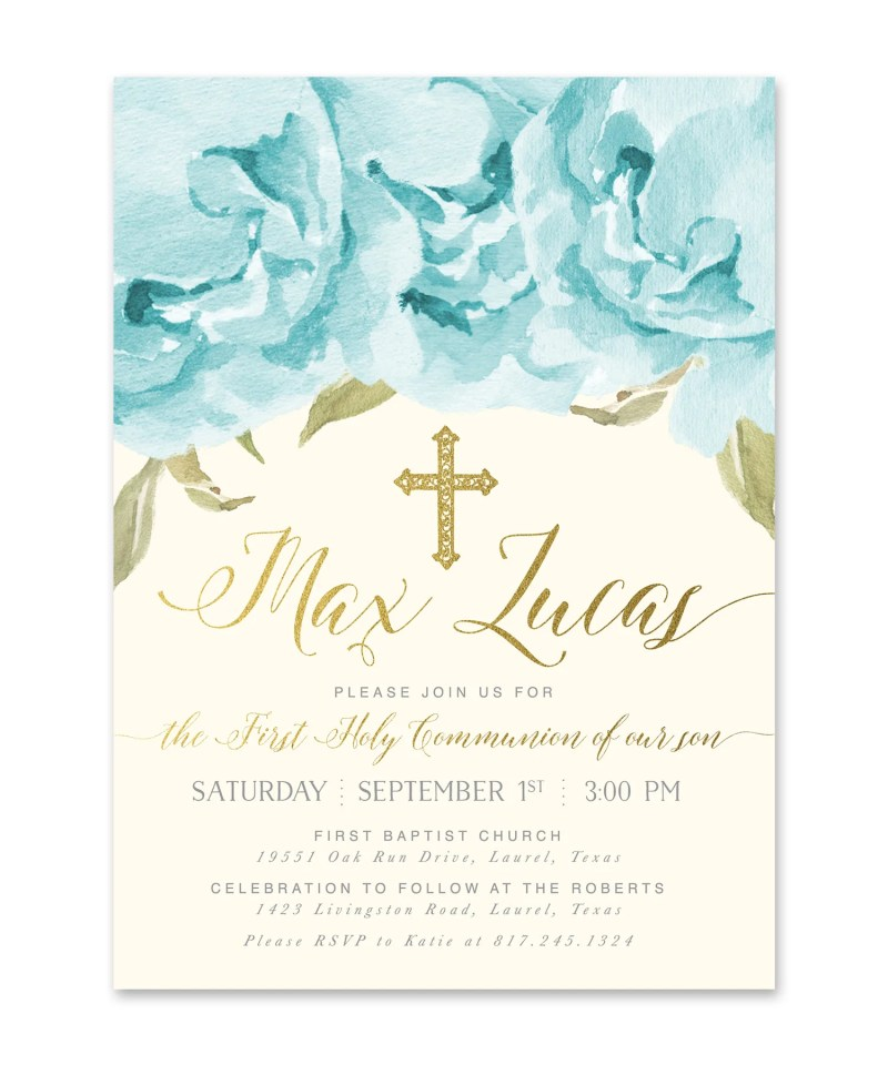 Large Of First Communion Invitations