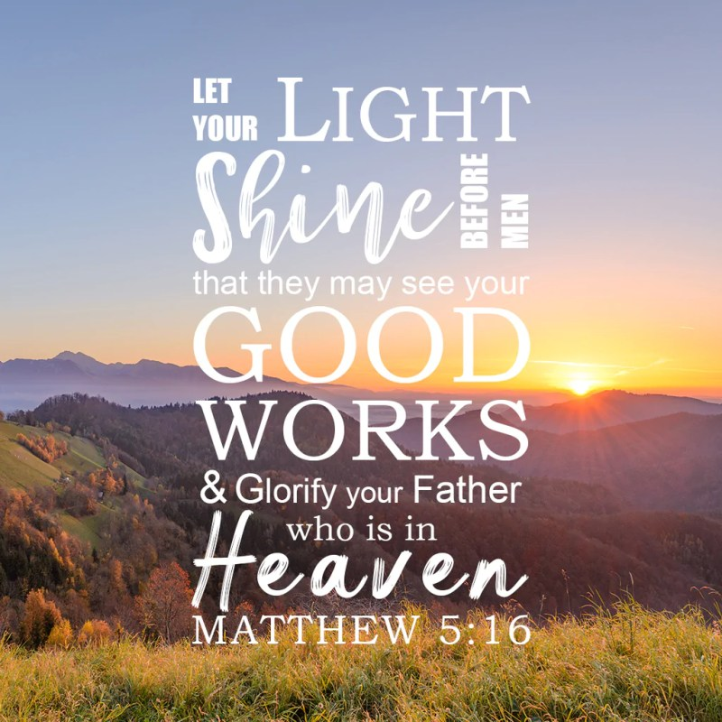Large Of Bible Verses About Light