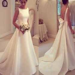 Small Crop Of Simple Wedding Dress