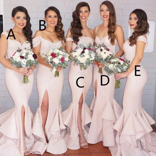 Medium Of Blush Pink Bridesmaid Dresses
