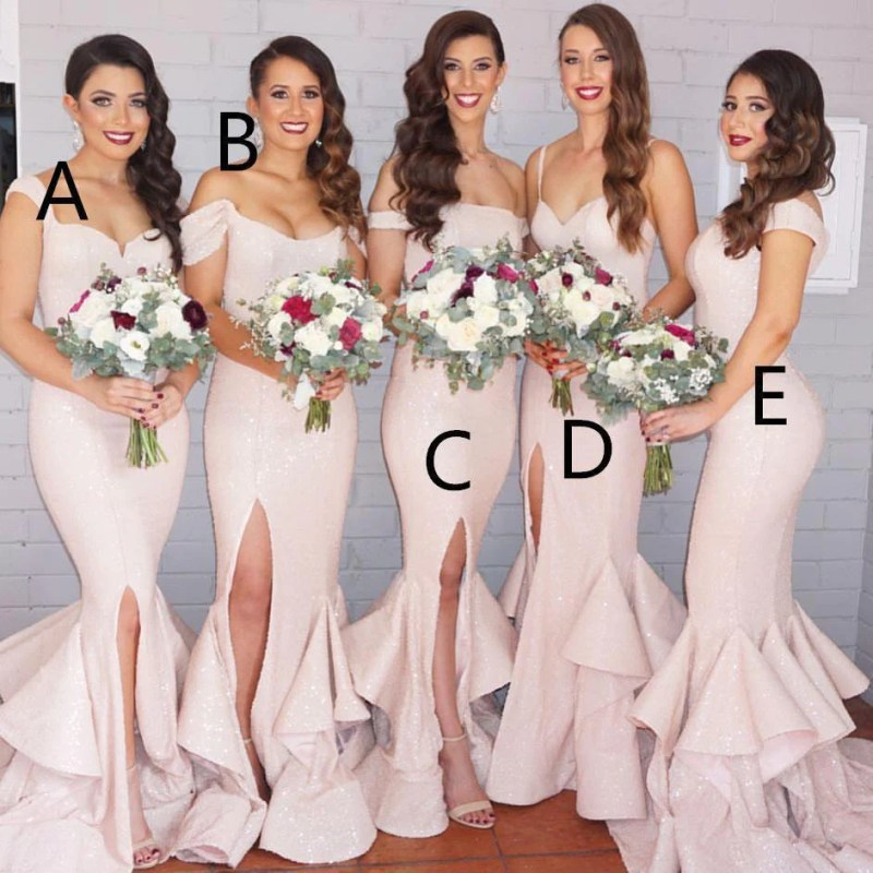 Large Of Blush Pink Bridesmaid Dresses