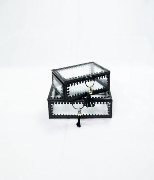 Medium Of Glass Jewelry Box