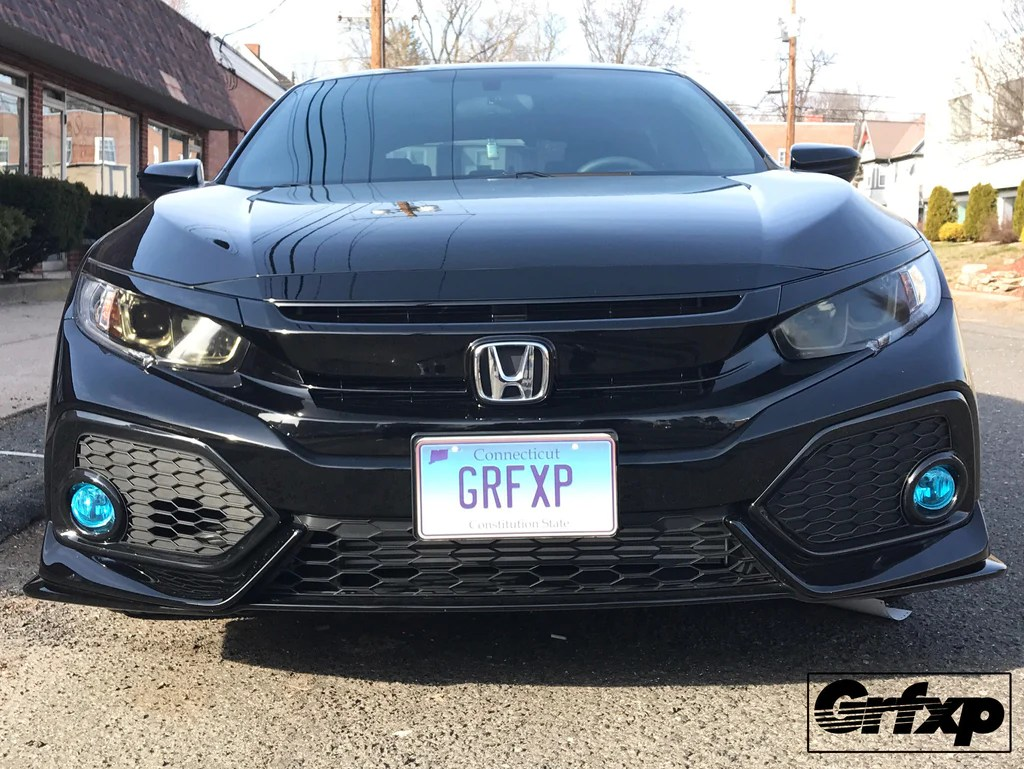 Fog Light Overlays For 10thGen Honda Civic Hatchback (2017+) \u2013  Grafixpressions