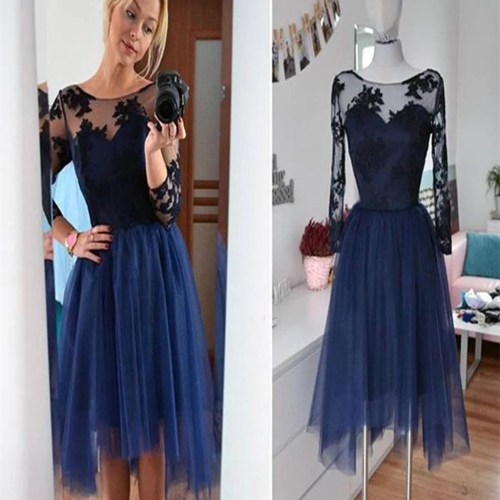 Medium Crop Of Long Sleeve Homecoming Dresses
