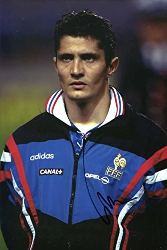 Bixente Lizarazu autograph  In Person signed photo   footballcourier Bixente Lizarazu autograph  In Person signed photo