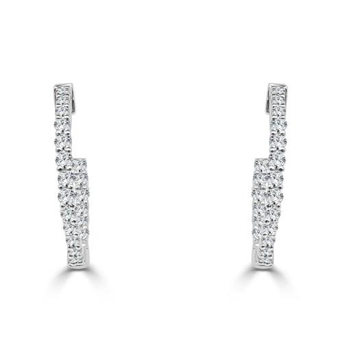 First Half Carat Diamond Inside Out Hoop Earrings Half Carat Diamond Inside Out Hoop Earrings Half Carat Diamond Ring Half Carat Diamond Studs