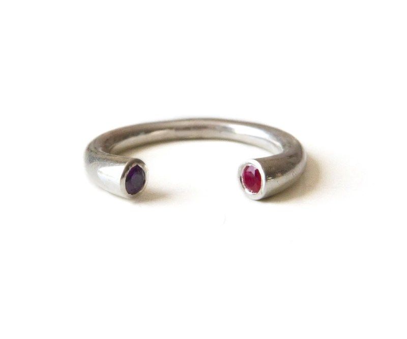 Large Of Stackable Birthstone Rings
