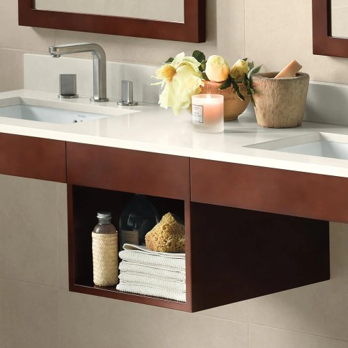 Medium Of Wood Shelf For Bathroom
