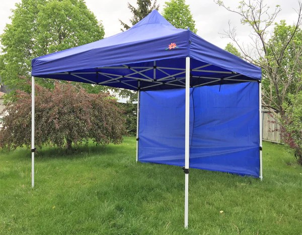 Deluxe Pop up Gazebo Event Canopy 10x10 ft Tent with 3 Side Wall – GardeniaCanada