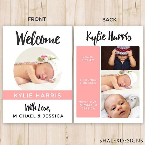 Medium Of Birth Announcement Template